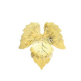 Broche Michalina Feuille Or Jaune - Bijoux Plume Femme   Histoire d'Or