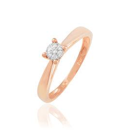 Bague Solitaire Collection Grace Or Rose Diamant - Bagues avec pierre Femme | Histoire d'Or