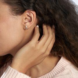 Boucles D'oreilles Puces Grebera Or Jaune Oxyde - Clous d'oreilles Femme   Histoire d'Or
