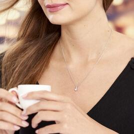 Collier April Argent Blanc Oxyde De Zirconium - Colliers fantaisie Femme   Histoire d'Or