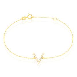Bracelet Celene Or Jaune Oxyde De Zirconium - Bijoux Femme | Histoire d'Or