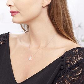 Collier Princess Argent Blanc Oxyde De Zirconium - Colliers fantaisie Femme   Histoire d'Or