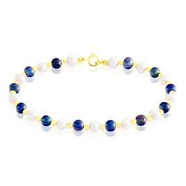 Bracelet Mirjam Or Jaune Perle De Culture - Bijoux Femme   Histoire d'Or
