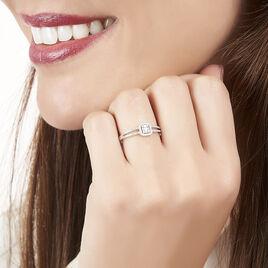 Bague Natacha Or Blanc Diamant - Bagues avec pierre Femme | Histoire d'Or