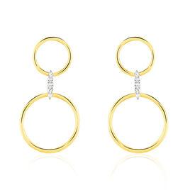 Boucles D'oreilles Pendantes Andrina Or Jaune Diamant - Boucles d'oreilles pendantes Femme | Histoire d'Or