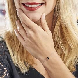 Bracelet Or Blanc Maveline Topaze - Bijoux Femme | Histoire d'Or