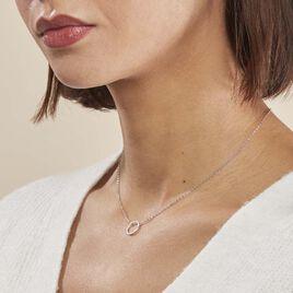 Collier Stip Or Blanc Oxyde De Zirconium - Bijoux Femme | Histoire d'Or