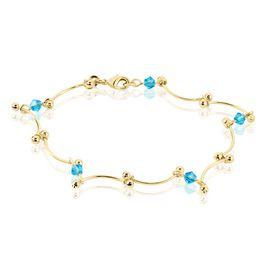 Bracelet Assmae Plaque Or Jaune Pierre De Synthese - Bracelets fantaisie Femme | Histoire d'Or