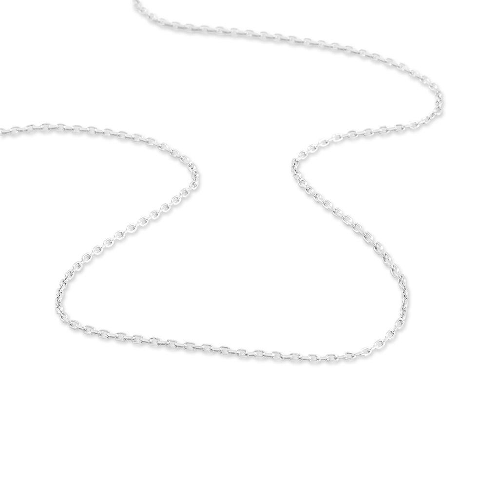 Chaîne Igoa Maille Forçat Diamantee Or Blanc - Chaines Femme | Histoire d'Or