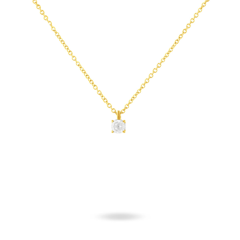 Collier Siline Or Jaune Diamant - Bijoux Femme | Histoire d'Or
