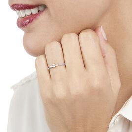 Bague Solitaire Nina Or Blanc Diamant - Bagues avec pierre Femme   Histoire d'Or