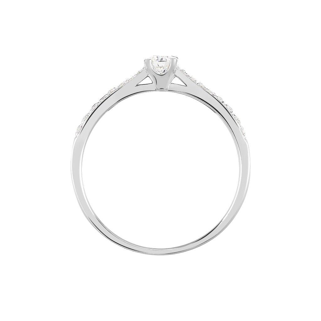 Bague Solitaire Laetitia Or Blanc Diamant - Bagues solitaires Femme   Histoire d'Or
