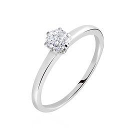 Bague Solitaire Natalia Pl Platine Blanc Diamant - Bagues avec pierre Femme   Histoire d'Or