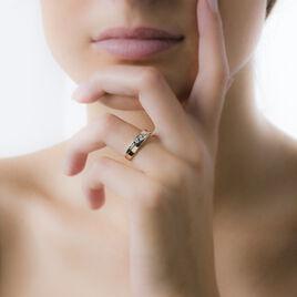 Bague Bryanna Or Bicolore Diamant - Bagues avec pierre Femme | Histoire d'Or