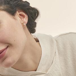 Boucles D'oreilles Puces Ouassima Or Jaune Diamant - Clous d'oreilles Femme   Histoire d'Or