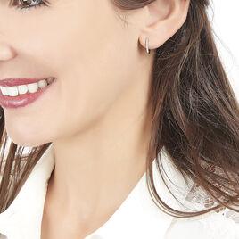 Créoles Sidony Rondes Or Blanc Diamant - Boucles d'oreilles créoles Femme | Histoire d'Or