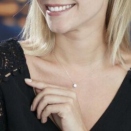 Collier Or Blanc Victoria Solitaire Diamant Synthetique - Bijoux Femme | Histoire d'Or