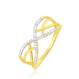 Bague Najett Or Jaune Diamant - Bagues avec pierre Femme   Histoire d'Or