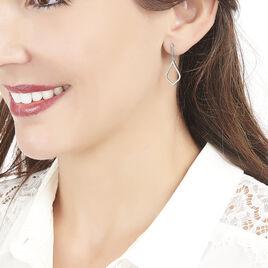 Boucles D'oreilles Pendantes Pola Or Blanc Diamant - Boucles d'oreilles pendantes Femme | Histoire d'Or