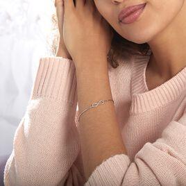 Bracelet Infini Argent Blanc - Bracelets Infini Femme   Histoire d'Or