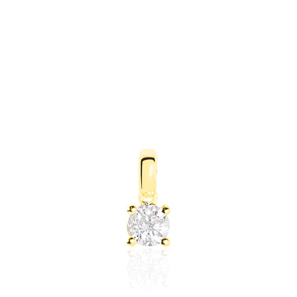 Pendentif Victoria Or Jaune Diamant - Pendentifs Femme | Histoire d'Or