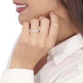 Bague Rekia Or Blanc Topaze Bleue - Bagues avec pierre Femme   Histoire d'Or