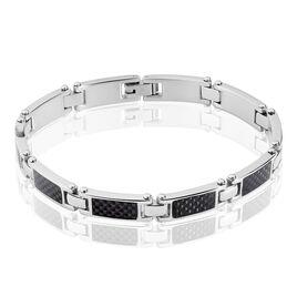 Bracelet Achille Acier Blanc - Bracelets fantaisie Homme | Histoire d'Or
