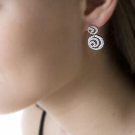 Boucles D'oreilles Pendantes Argent Blanc - Boucles d'oreilles fantaisie Femme | Histoire d'Or