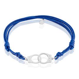Bracelet Argent Rhodie Kim - Bracelets cordon Homme | Histoire d'Or