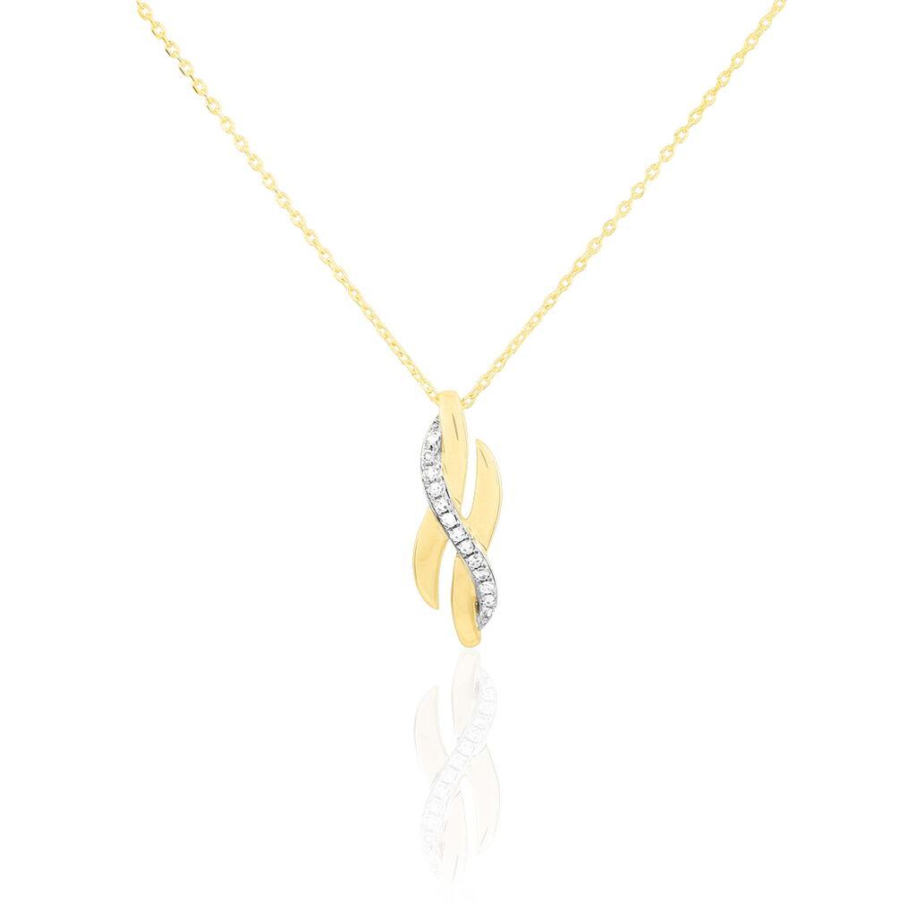 Collier Ester Or Jaune Diamant - Bijoux Femme   Histoire d'Or
