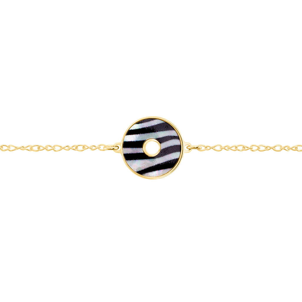 Bracelet Zengo Argent Jaune Nacre - Bracelets fantaisie Femme   Histoire d'Or