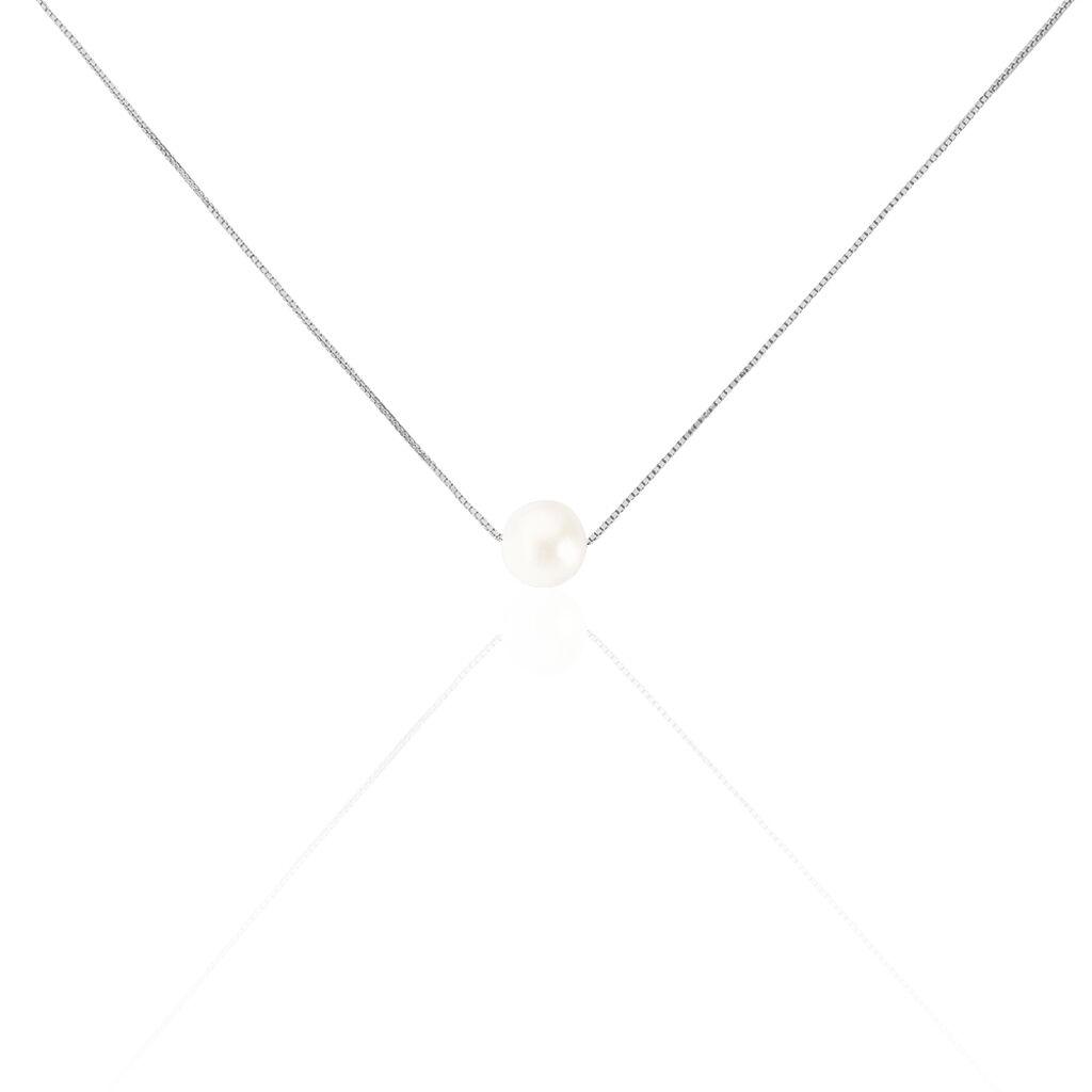 Collier Rada Maille Venitienne Argent Blanc Perle De Culture - Colliers fantaisie Femme | Histoire d'Or