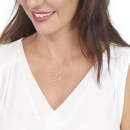 Collier Albanne Or Jaune Oxyde De Zirconium - Bijoux Femme   Histoire d'Or