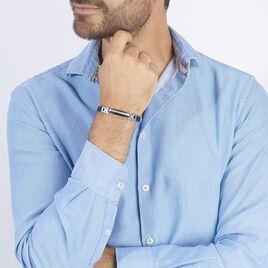 Bracelet Yannick Acier Blanc - Bracelets fantaisie Homme | Histoire d'Or