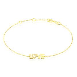 Bracelet Tinnia Or Jaune Oxyde De Zirconium - Bracelets Coeur Femme | Histoire d'Or