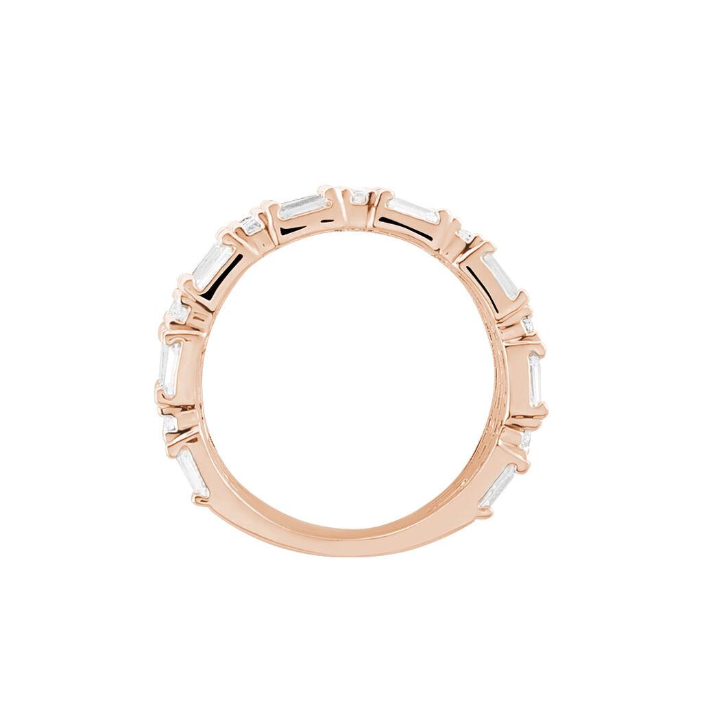 Bague Merya Plaque Or Rose Oxyde De Zirconium - Bagues avec pierre Femme | Histoire d'Or