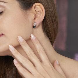 Bijoux D'oreilles Cleya Argent Blanc Céramique - Boucles d'oreilles fantaisie Femme   Histoire d'Or