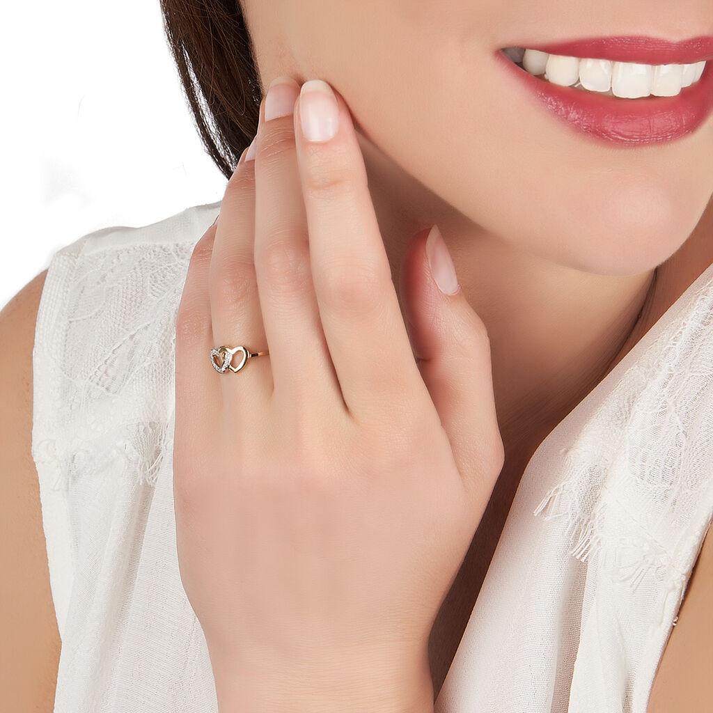 Bague Wydad Or Jaune Diamant - Bagues Coeur Femme | Histoire d'Or