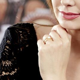 Bague Cary Plaque Or Jaune Verre - Bagues avec pierre Femme   Histoire d'Or