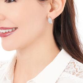 Boucles D'oreilles Puces Sohela Plaque Or Jaune Oxyde De Zirconium - Boucles d'oreilles fantaisie Femme | Histoire d'Or