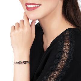 Bracelet Link Argent Blanc Céramique Et Oxyde De Zirconium - Bijoux Femme   Histoire d'Or