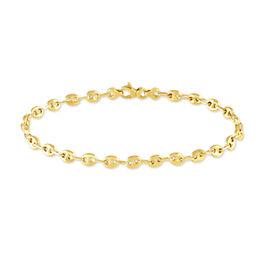 Bracelet Or Jaune Grain De Cafe - Bracelets chaîne Femme | Histoire d'Or