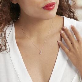 Collier Antonia Or Rose Morganite Et Oxyde De Zirconium - Bijoux Femme | Histoire d'Or