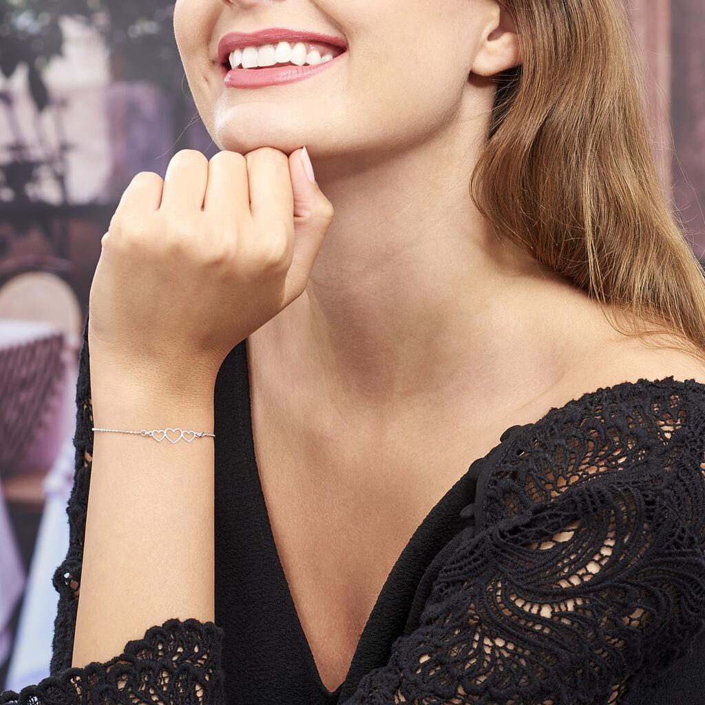 Bracelet Love Love Argent Blanc - Bracelets Coeur Femme   Histoire d'Or