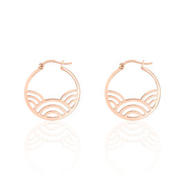 Boucles D'oreilles Pendantes Vagua Acier Rose - Boucles d'oreilles créoles Femme | Histoire d'Or