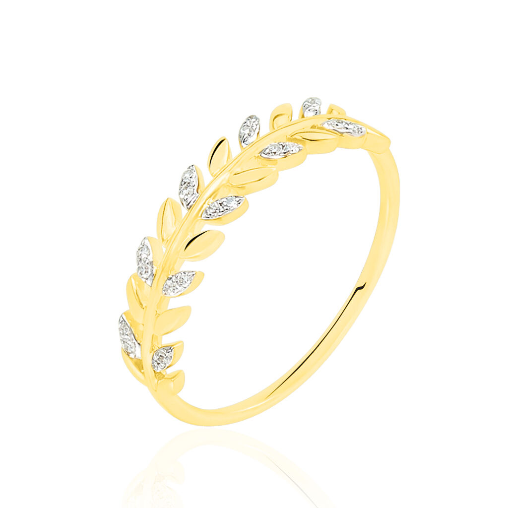 Bague Emeralda Or Jaune Diamant