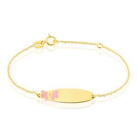 Bracelet Identité Helee Noeud Or Jaune - Bracelets Communion Enfant | Histoire d'Or