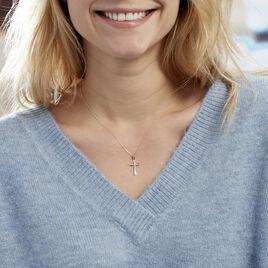 Collier Canice Croix Or Jaune Diamant - Colliers Croix Femme | Histoire d'Or