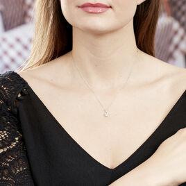 Collier Berenice Or Blanc Topaze Et Oxyde De Zirconium - Bijoux Femme | Histoire d'Or