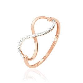Bague Anais Or Rose Diamant - Bagues Infini Femme | Histoire d'Or